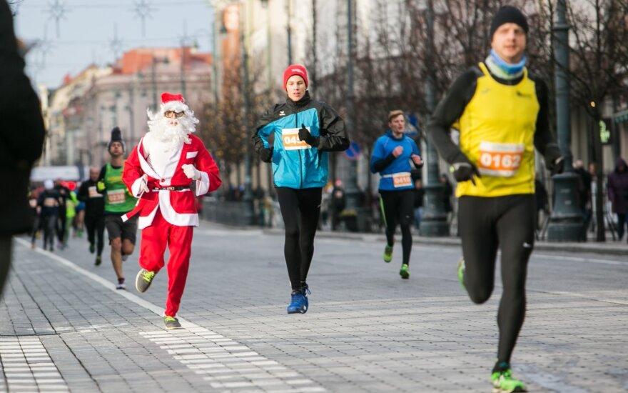 Vilnius' 40th annual Christmas run