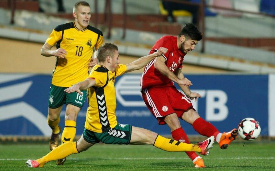 Draugiškos futbolo rungtynės: Gruzija - Lietuva
