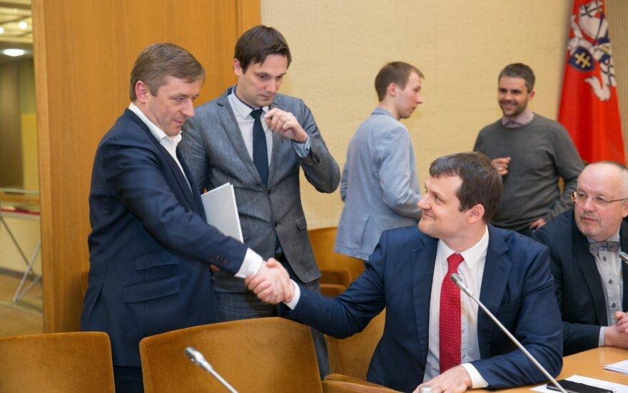 Ramūnas Karbauskis, Tomas Tomilinas ir Gintautas Paluckas