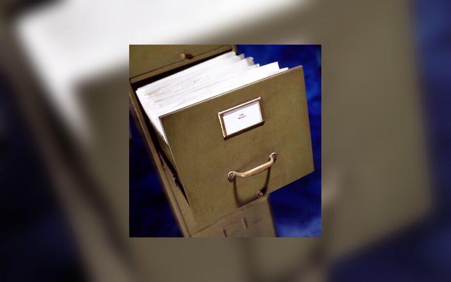 Dokumentai, krata, stalčius