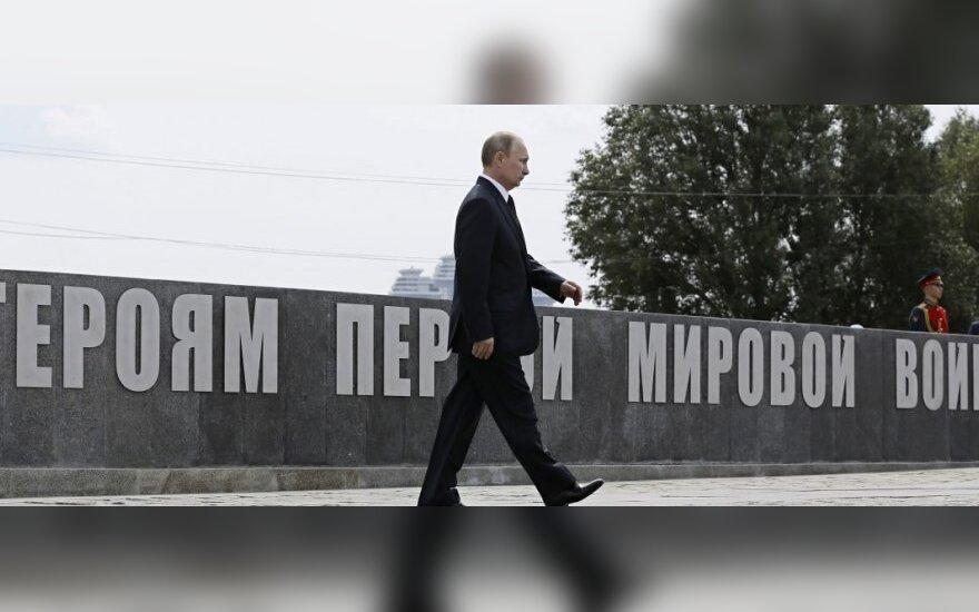 Pirmojo pasaulinio karo minėjimas Rusijoje. V. Putinas