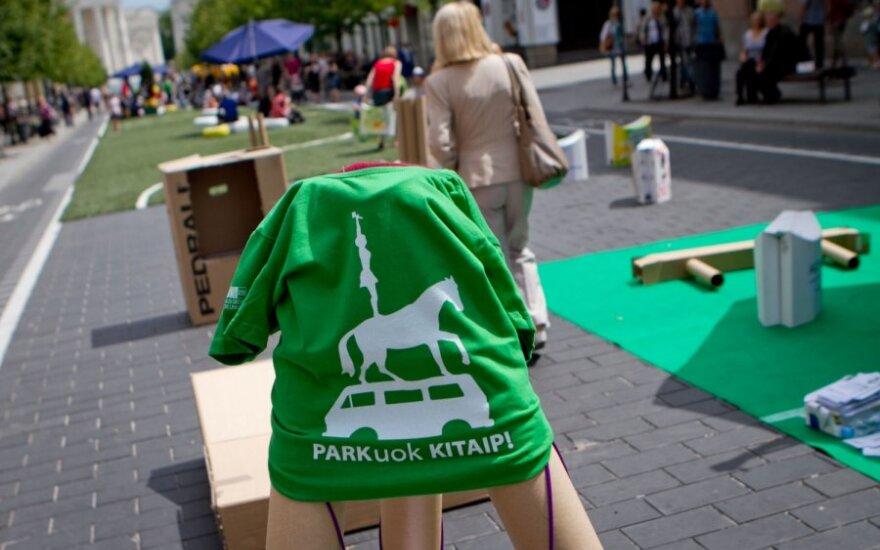 """Vilniuje vyksta """"Parkuok kitaip"""" dienos"""