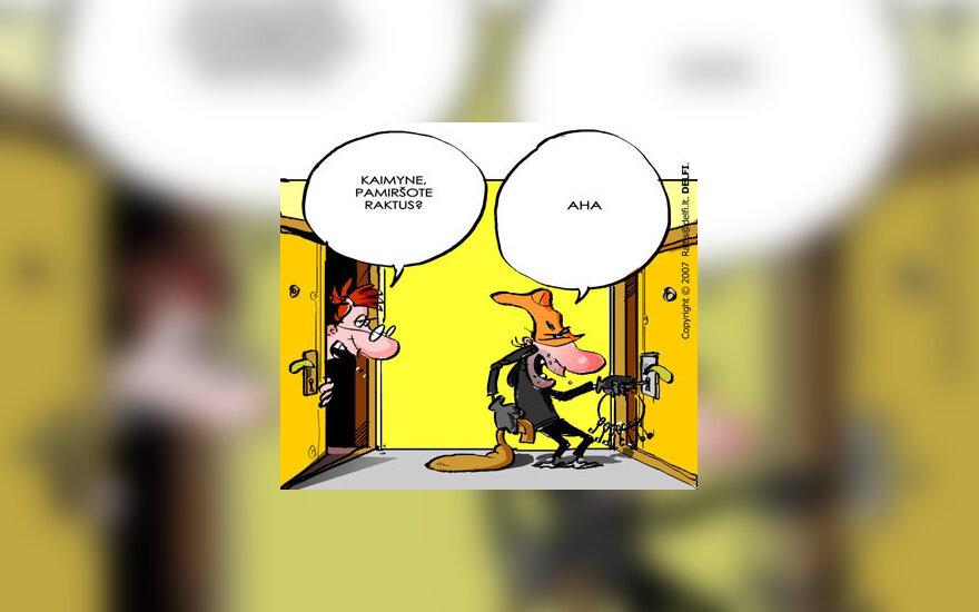 Vagis, vagystė - karikatūra