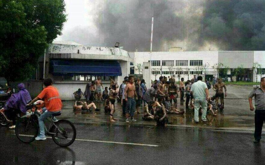 Kinijoje siaubingas sprogimas nusinešė bent 65 gyvybes