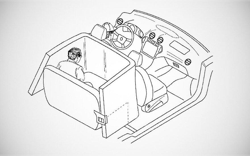 """""""Ford"""" patentavo naują saugos pagalvių sistemą"""