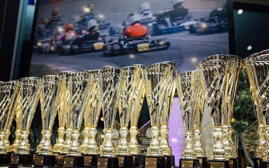 """Sostinėje apdovanoti """"BMW Lietuvos kartingo čempionato"""" nugalėtojai"""