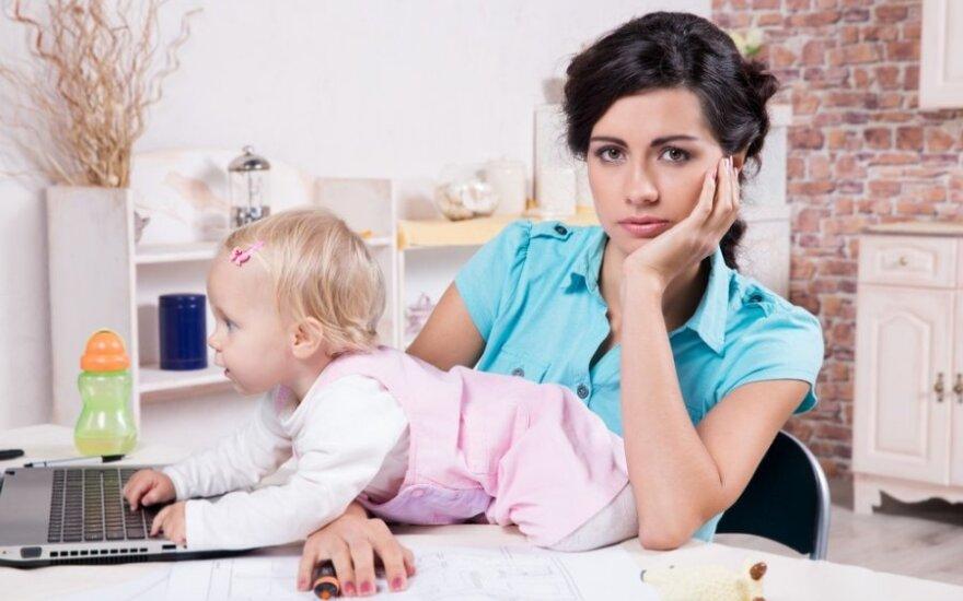 Iš namų dirbanti mama: penki dalykai, apie kuriuos reikia žinoti iš anksto