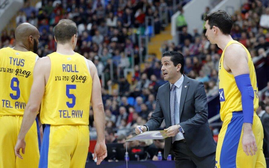 """Tel Avivo """"Maccabi"""" krepšininkai, treneris Ioannis Sfairopoulas"""