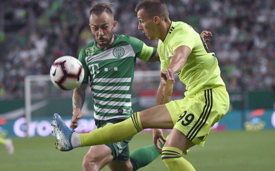 """Susitinka """"Ferencvaros"""" (žali marškinėliai) ir Zagrebo """"Dinamo"""""""