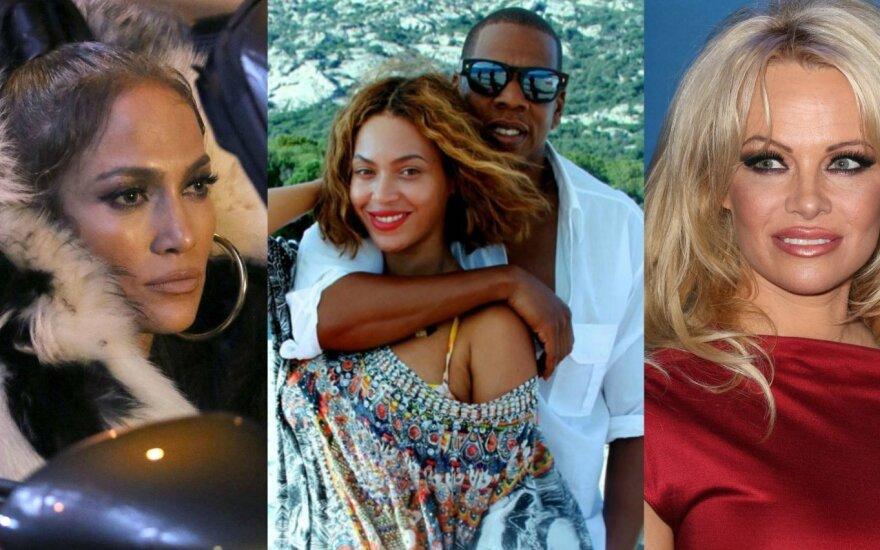 Jennifer Lopez, Jay-Z, Beyonce, Pamela Anderson