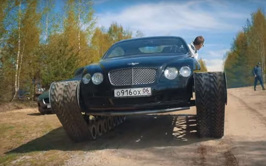 """Bentley Continental GT"" pavertė tanku"