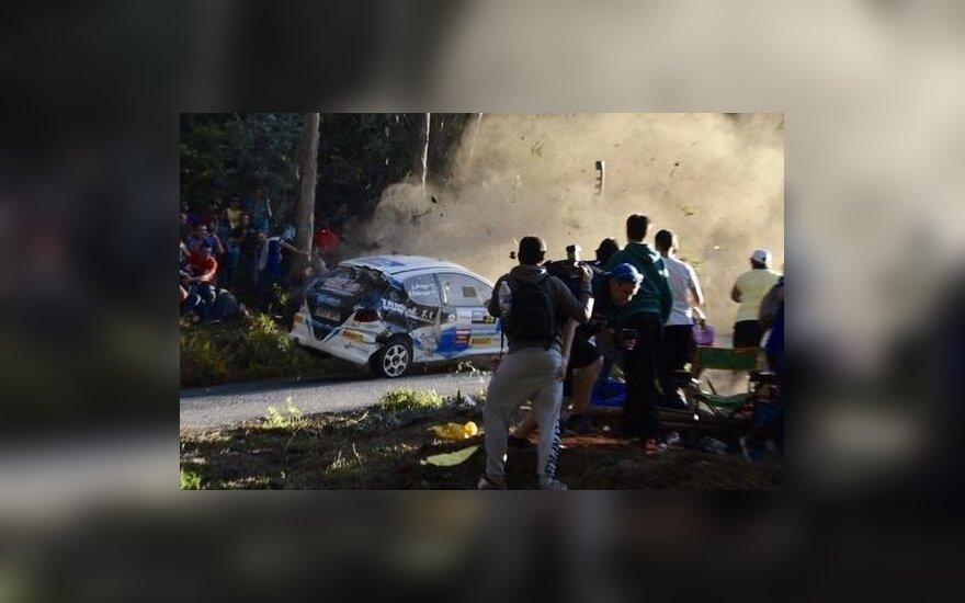 Kraupi avarija Ispanijos ralyje