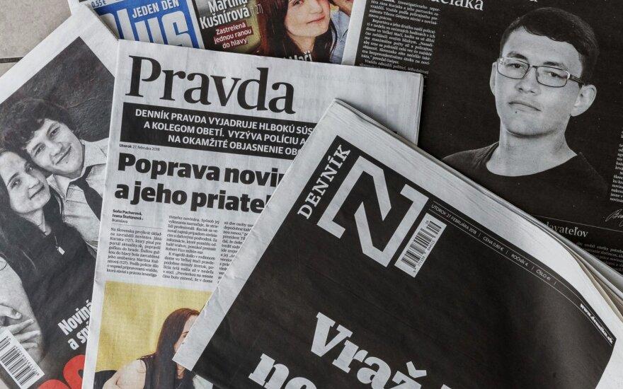 Slovakų žurnalisto nužudymą tiria Interpolas ir Slovakijos, Čekijos bei Italijos policininkai