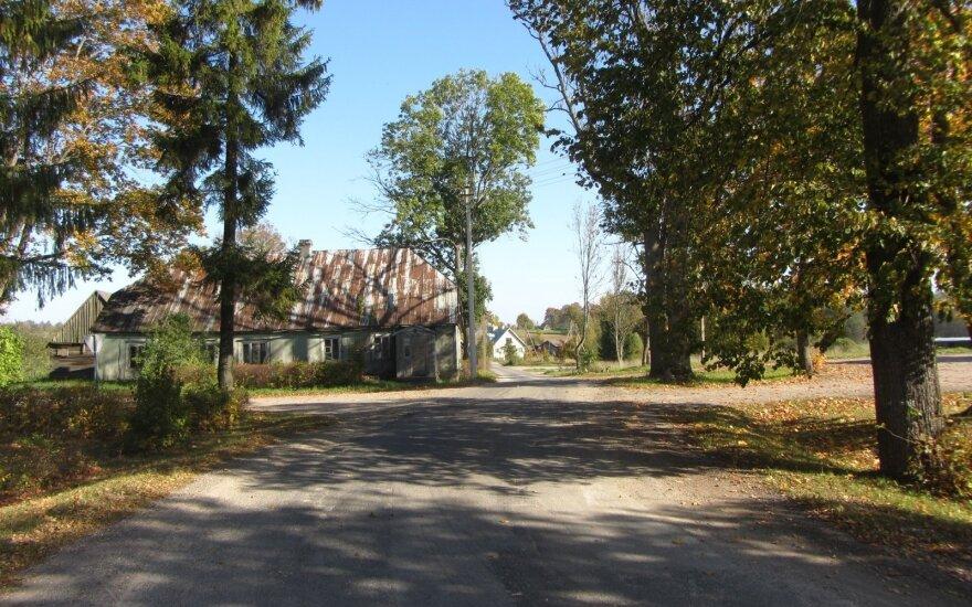Suvainiškio gatvė rudenį