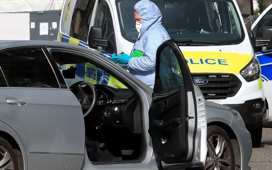 Kijevo centre apšaudytas automobilis, žuvo vaikas