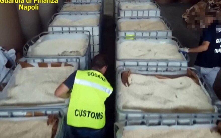 Italija konfiskavo 14 t IS pagaminto amfetamino iš Sirijos