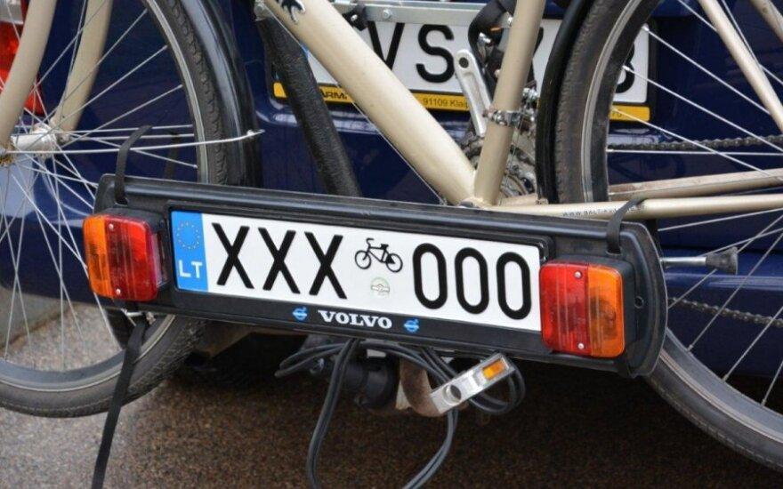Numerio lentelė vežantiems dviratį