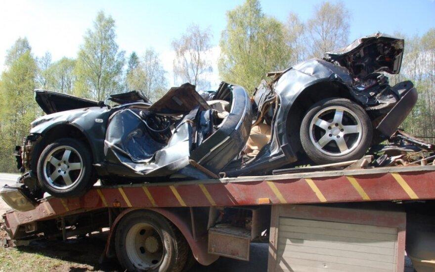 Skaudžios avarijos padariniai