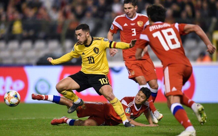 Europos čempionato atranka: Belgija - Rusija