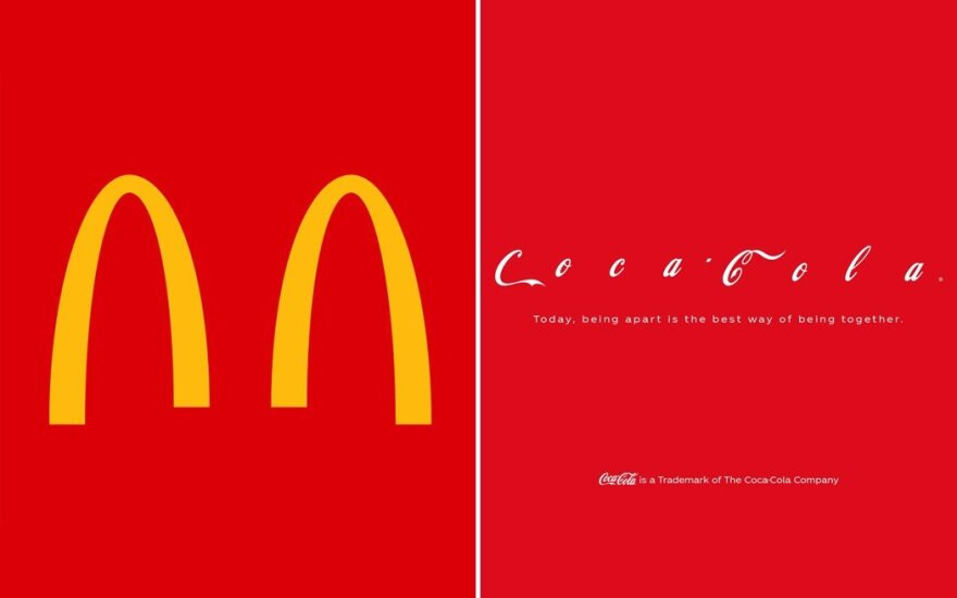 McDonald's ir Coca Cola nuotr.