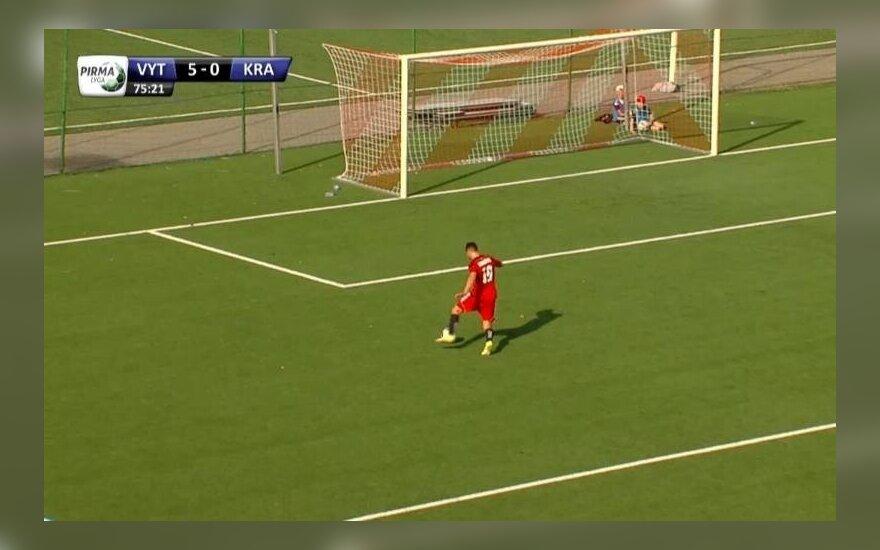 """LFF diskvalifikavo šešis """"Kražantės"""" žaidėjus"""