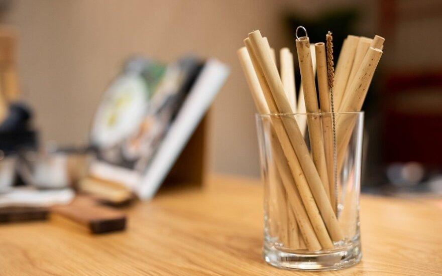 Bambukiniai šiaudeliai