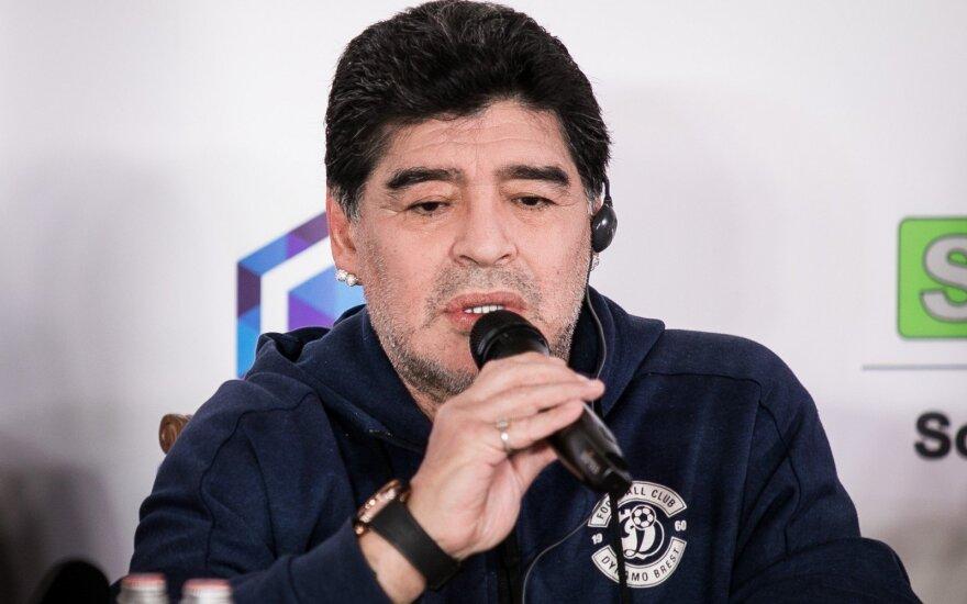 """Maradona atskleidė savo planus Breste: statys gigantišką """"Paukščių tako"""" stadioną"""