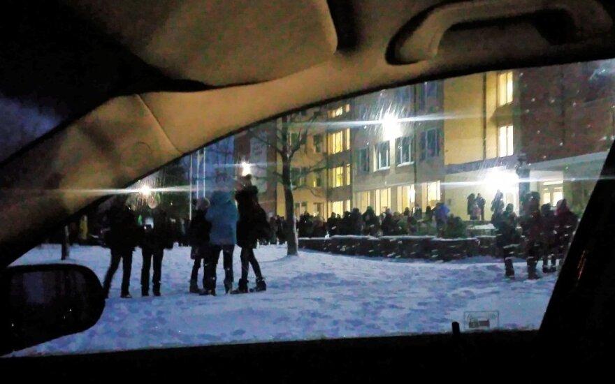 Pranešta apie sprogmenį Panevėžio rajono gimnazijoje