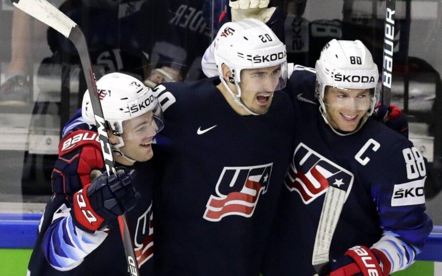 Pasaulio ledo ritulio čempionatas: JAV - Kanada