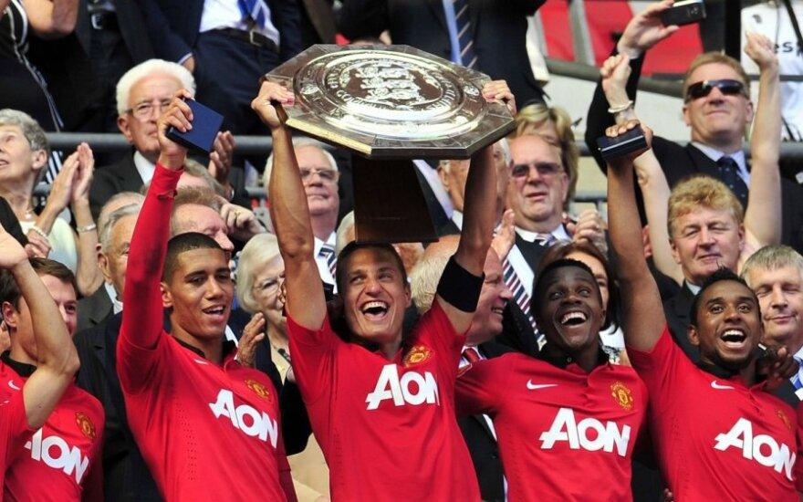 """Mančesterio """"United"""" futbolininkų triumfas"""