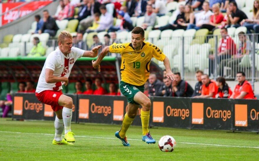 "Danijos futbolo čempiono ""Aalborg BK"" klubo su L. Spalviu lygiosios kontroliniame mače"