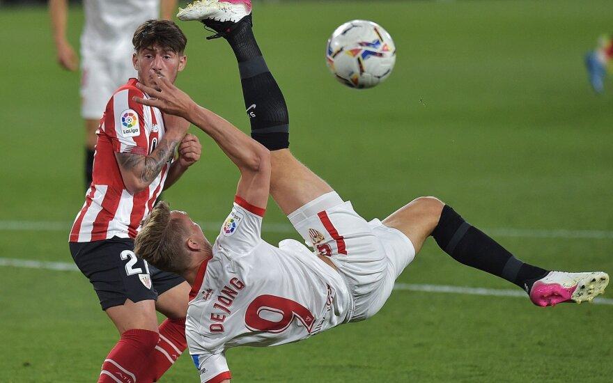 "Susitinka ""Sevilla"" (balta apranga) ir Bilbao ""Athletic"""