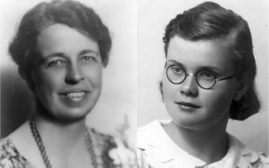 Koliažas: E. Roosevelt ir H. Yčaitė