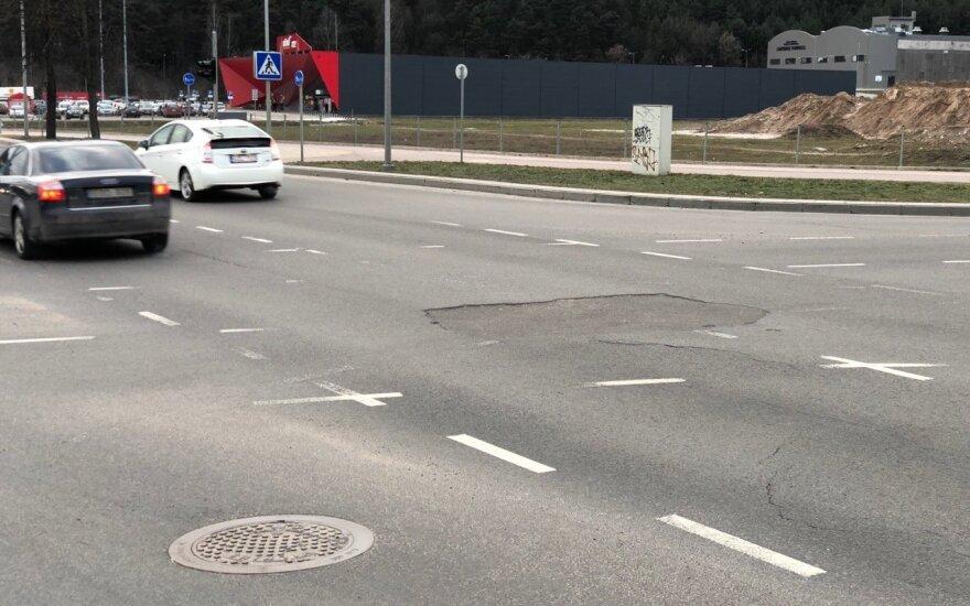 Prasėdimas Vilniaus Žalgirio ir Linkmėnų gatvių sankryžoje