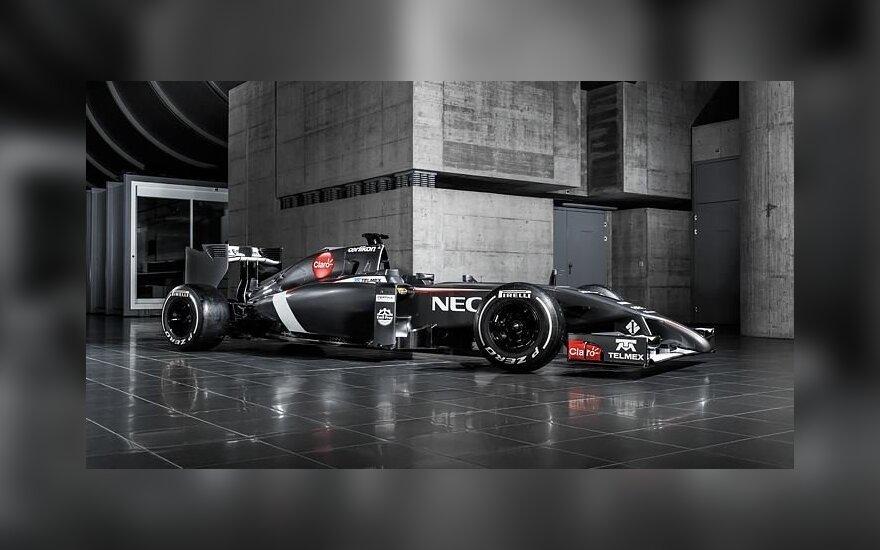 """""""Sauber"""": atnaujinto """"Ferrari"""" variklio nenaudosim iki Belgijos GP etapo"""