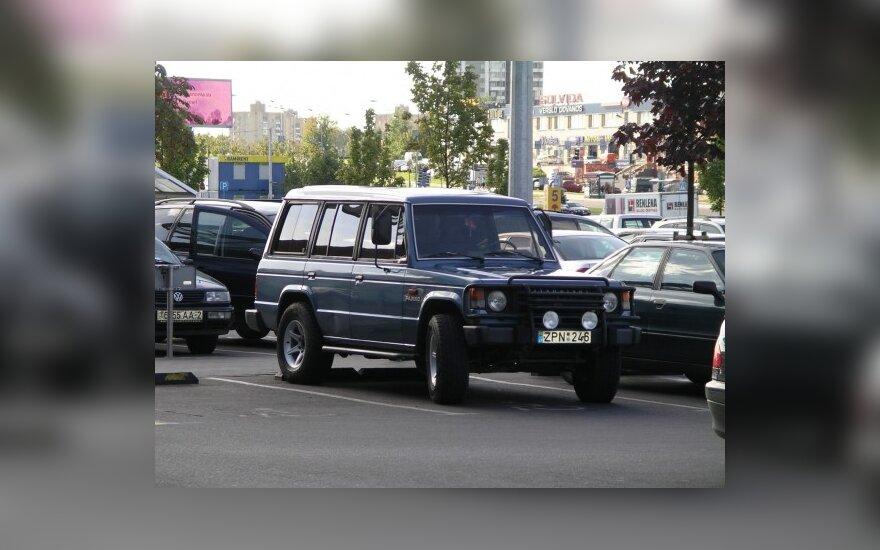 """Parkavimas Vilniuje, prie """"Akropolio"""". 2009-09-19"""