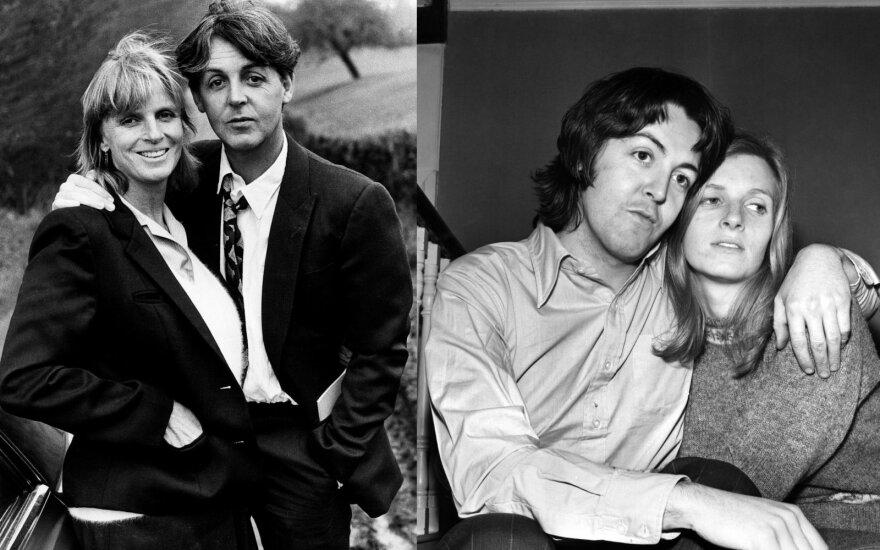 Paulas McCartney su žmona Linda