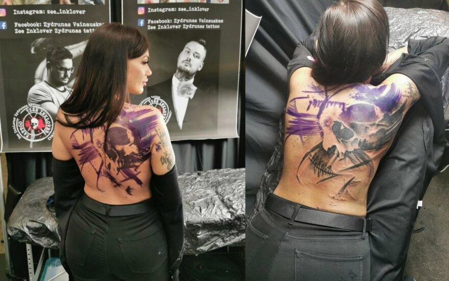Justina Globienė pasidarė tatuiruotę