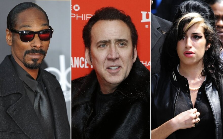 Snoop Doggas, Nicolas Cage, Amy Winehouse, Keanu Reevesas