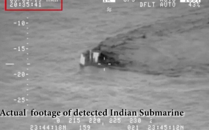 Pakistanas sutrikdė Indijos povandeninį laivui įplaukti į savo vandenis