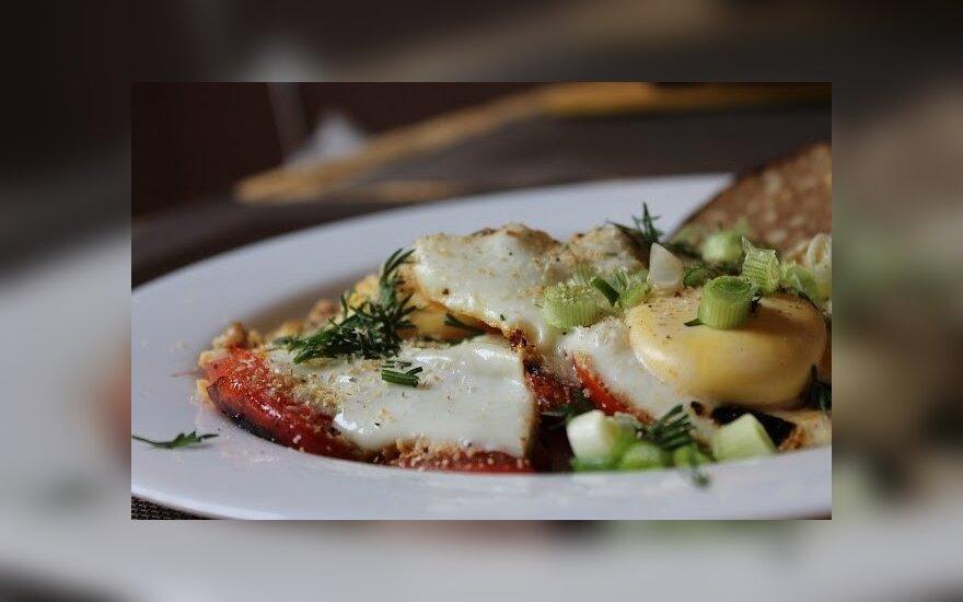 Prancūziška kiaušinienė su pomidorais
