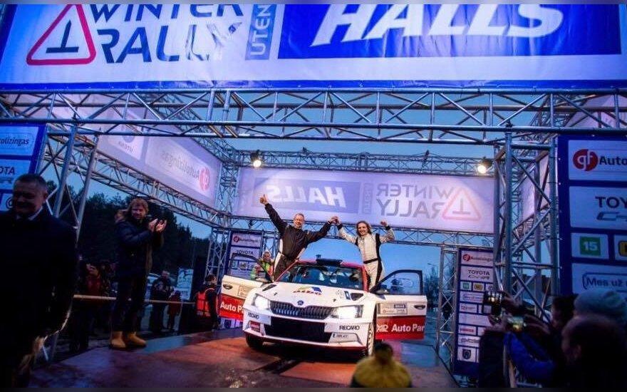 D. Butvilas ir R. Vaitkevičius laimėjo žiemos ralyje