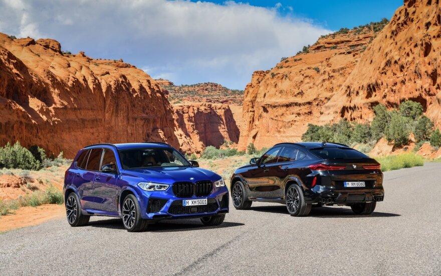 BMW X5 M ir BMW X6 M modeliai