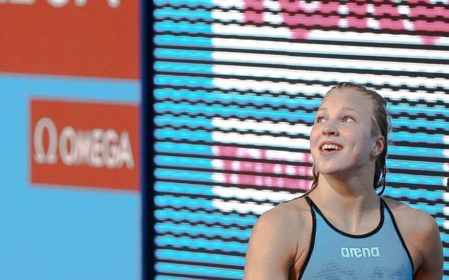 R. Meilutytė Dubajuje pagerino Lietuvos 50 m plaukimo peteliške rekordą