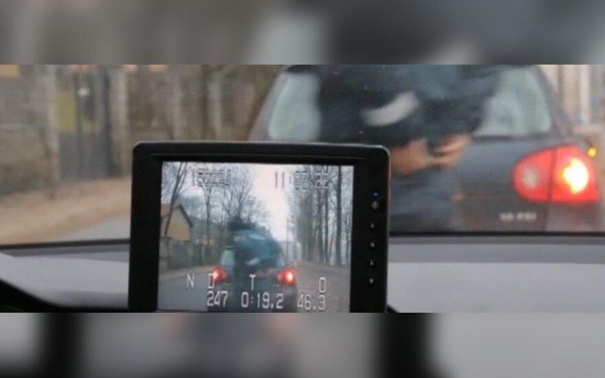 Nepažymėtas policijos automobilis