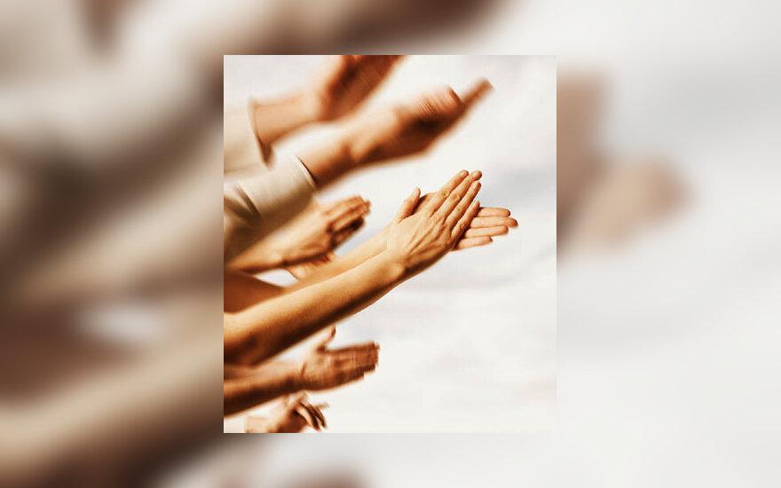 ploti, rankos, padėka, dėkoti, pagerbti