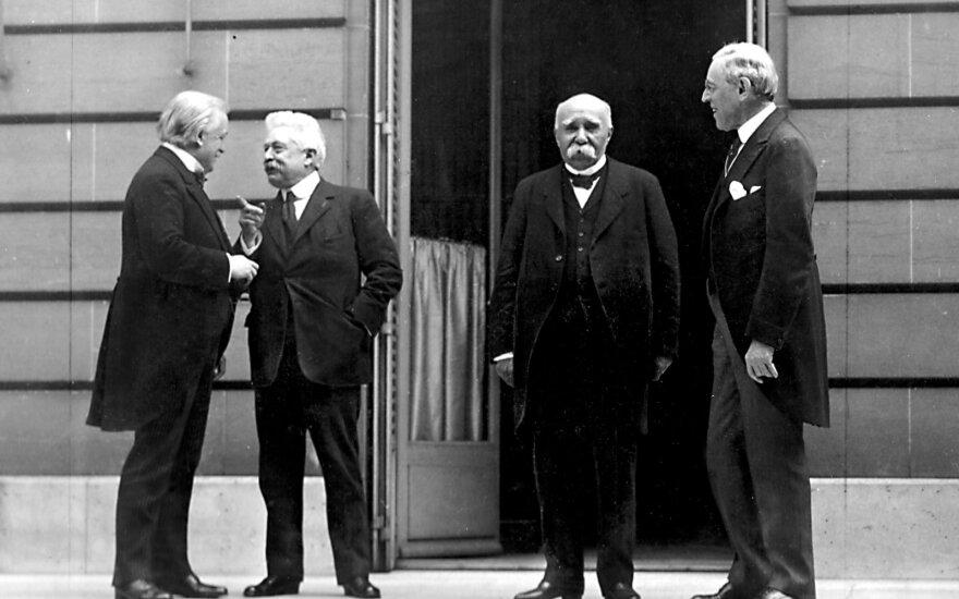 Vadinamasis Didysis ketvertukas, Paryžiaus taikos konferencija, 1919 m.