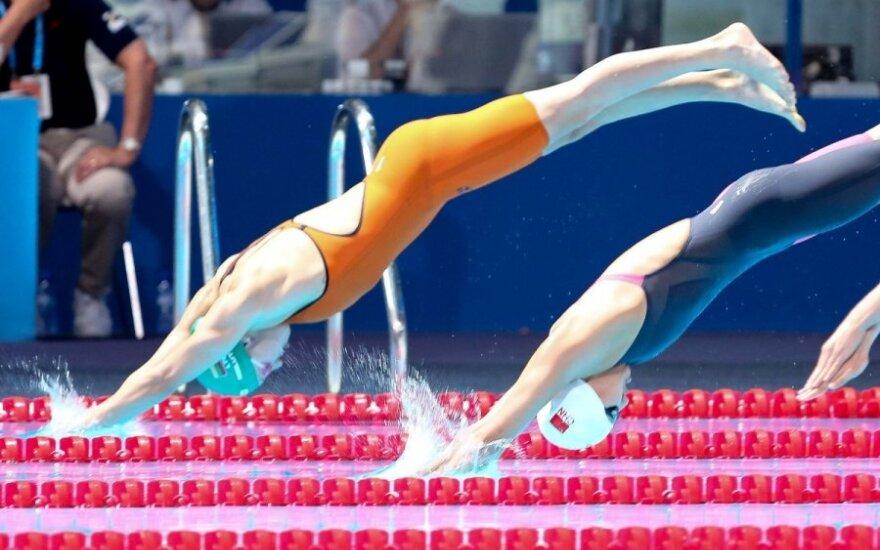 R. Meilutytė Dubajuje plauks 50 m laisvu stiliumi pusfinalyje