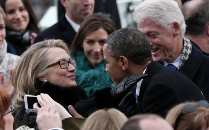 Hillary Clinton ir Barackas Obama