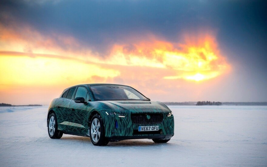 """Jaguar I-Pace"" bandymai"